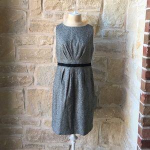 Loft Pleated Tweed Sheath Dress